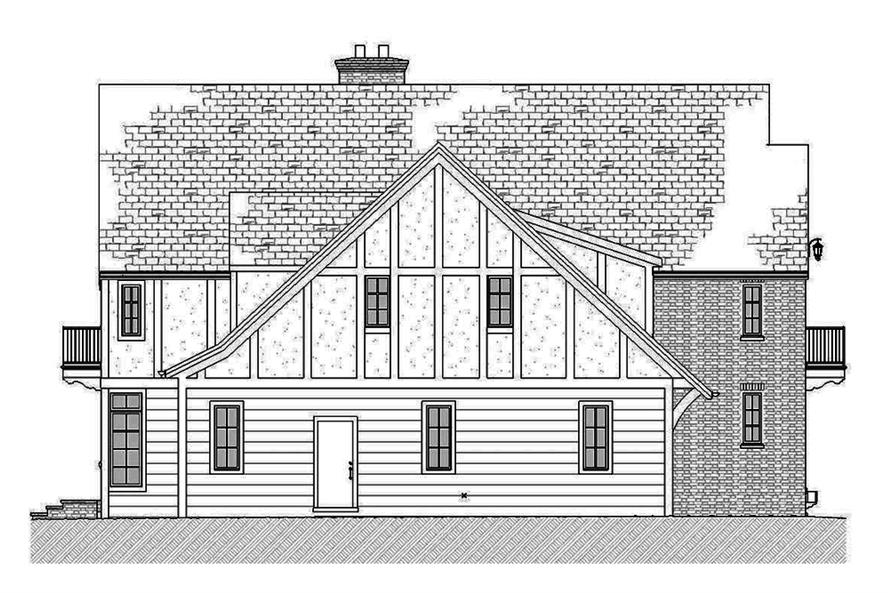Home Plan Left Elevation of this 3-Bedroom,3331 Sq Ft Plan -168-1137