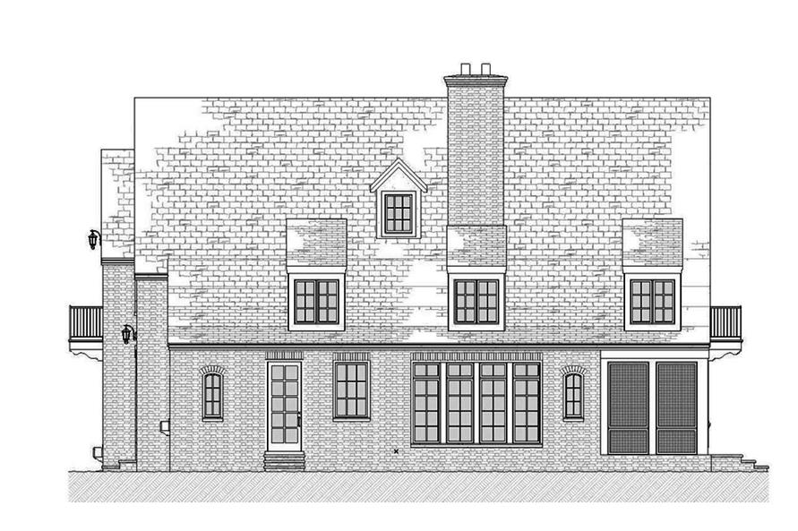Home Plan Right Elevation of this 3-Bedroom,3331 Sq Ft Plan -168-1137