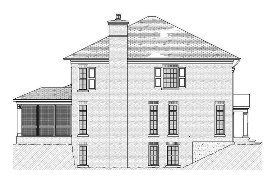Home Plan Left Elevation of this 4-Bedroom,3221 Sq Ft Plan -168-1138