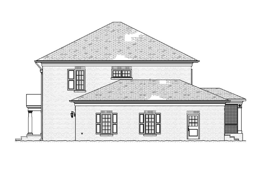 Home Plan Right Elevation of this 4-Bedroom,3221 Sq Ft Plan -168-1138