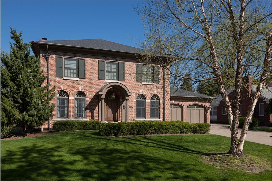 4-Bedroom, 3221 Sq Ft Traditional House Plan - 168-1138 - Front Exterior