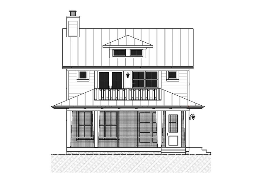Home Plan Front Elevation of this 3-Bedroom,2170 Sq Ft Plan -168-1139