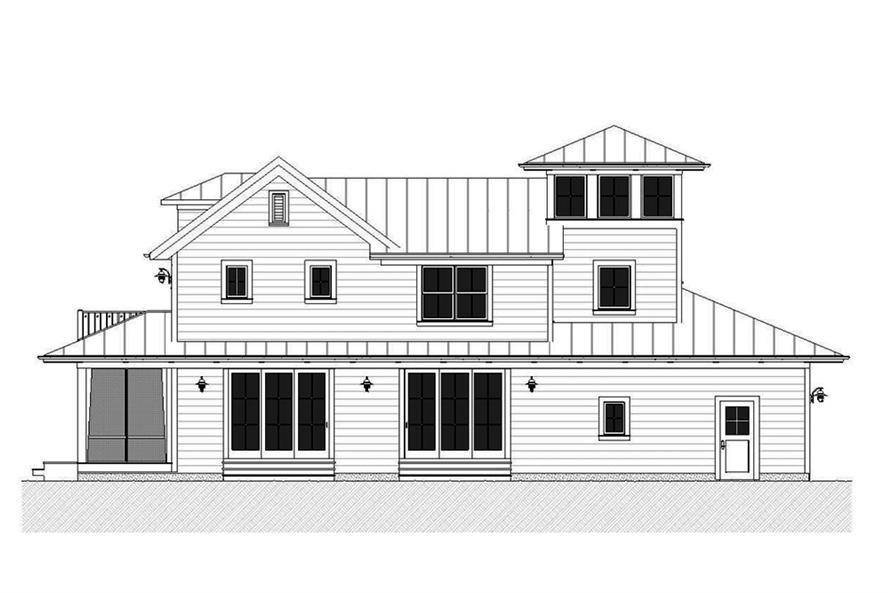 Home Plan Right Elevation of this 3-Bedroom,2170 Sq Ft Plan -168-1139