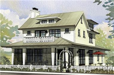 3-Bedroom, 2170 Sq Ft Traditional House Plan - 168-1139 - Front Exterior