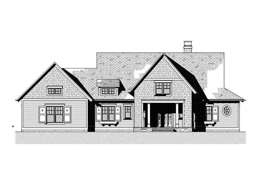 Home Plan Front Elevation of this 3-Bedroom,3395 Sq Ft Plan -168-1140