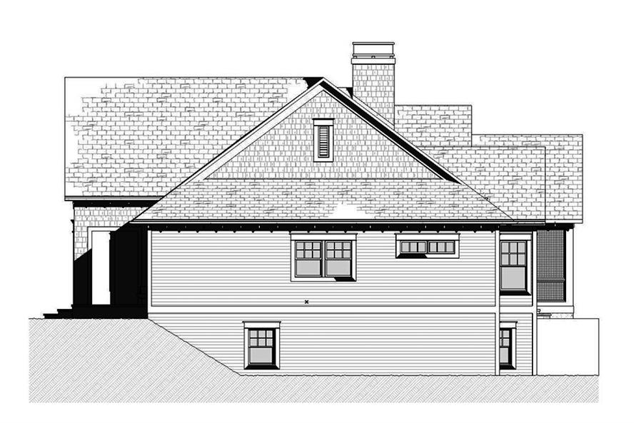 Home Plan Right Elevation of this 3-Bedroom,3395 Sq Ft Plan -168-1140