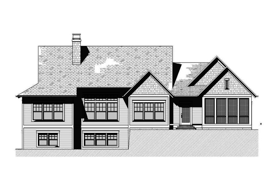 Home Plan Rear Elevation of this 3-Bedroom,3395 Sq Ft Plan -168-1140