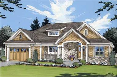 Front elevation of Country home (ThePlanCollection: House Plan #169-1001)