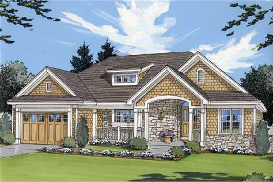 3-Bedroom, 1651 Sq Ft Country Home Plan - 169-1001 - Main Exterior
