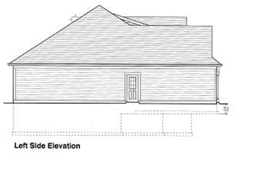 Home Plan Left Elevation of this 3-Bedroom,1651 Sq Ft Plan -169-1001