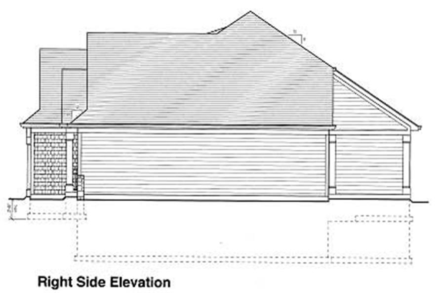 Home Plan Right Elevation of this 3-Bedroom,1651 Sq Ft Plan -169-1001