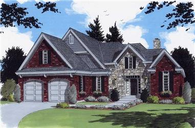 3-Bedroom, 2077 Sq Ft Country Home Plan - 169-1002 - Main Exterior