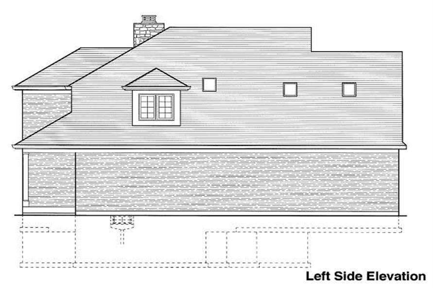 Home Plan Left Elevation of this 4-Bedroom,2077 Sq Ft Plan -169-1002