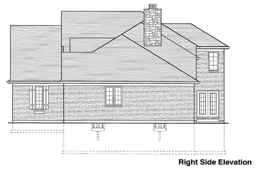Home Plan Right Elevation of this 4-Bedroom,2077 Sq Ft Plan -169-1002