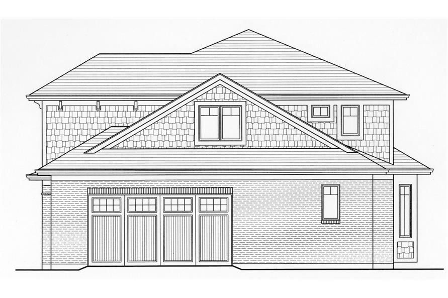 Home Plan Right Elevation of this 4-Bedroom,2697 Sq Ft Plan -169-1006