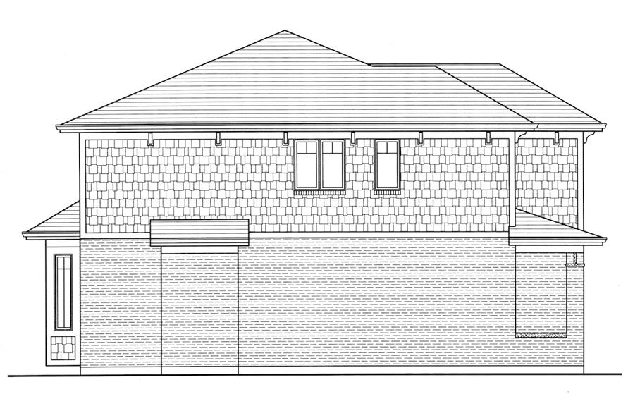 Home Plan Left Elevation of this 4-Bedroom,2697 Sq Ft Plan -169-1006
