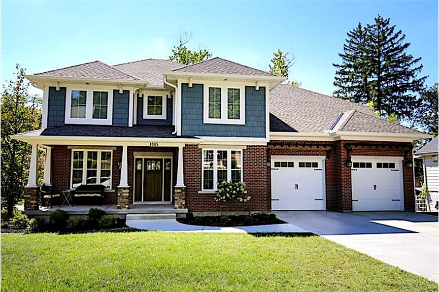 4-Bedroom, 2697 Sq Ft Country Home - Plan #169-1006 - Front Exterior