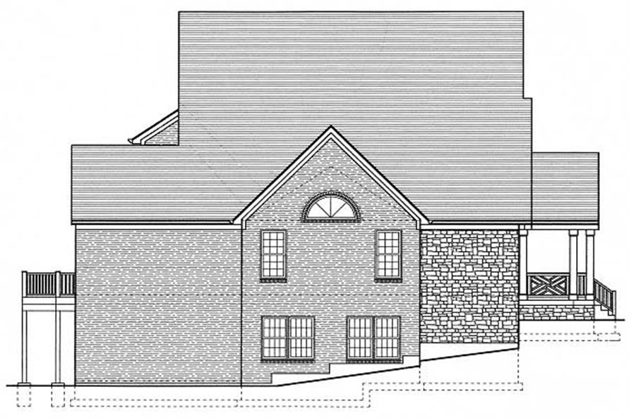 Home Plan Left Elevation of this 4-Bedroom,3746 Sq Ft Plan -169-1007