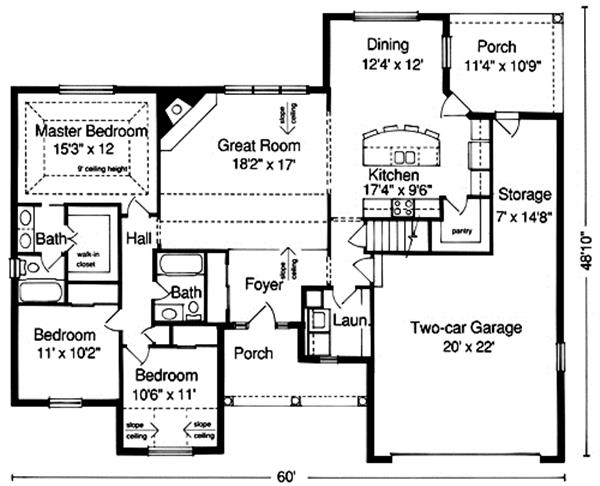 169-1008 house plan main level