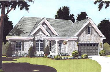 Front elevation of Ranch home (ThePlanCollection: House Plan #169-1008)