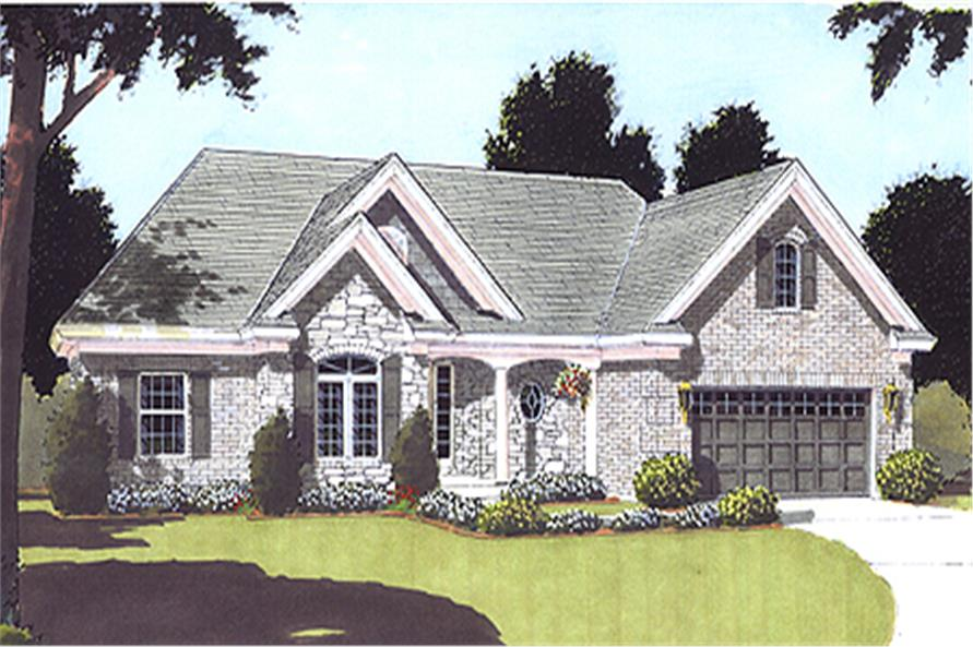 3-Bedroom, 1593 Sq Ft Ranch House Plan - 169-1008 - Front Exterior