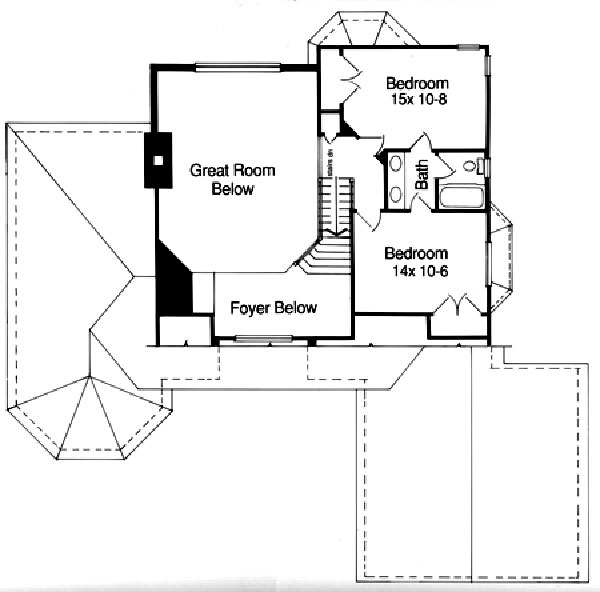 169-1013 House plan second floor