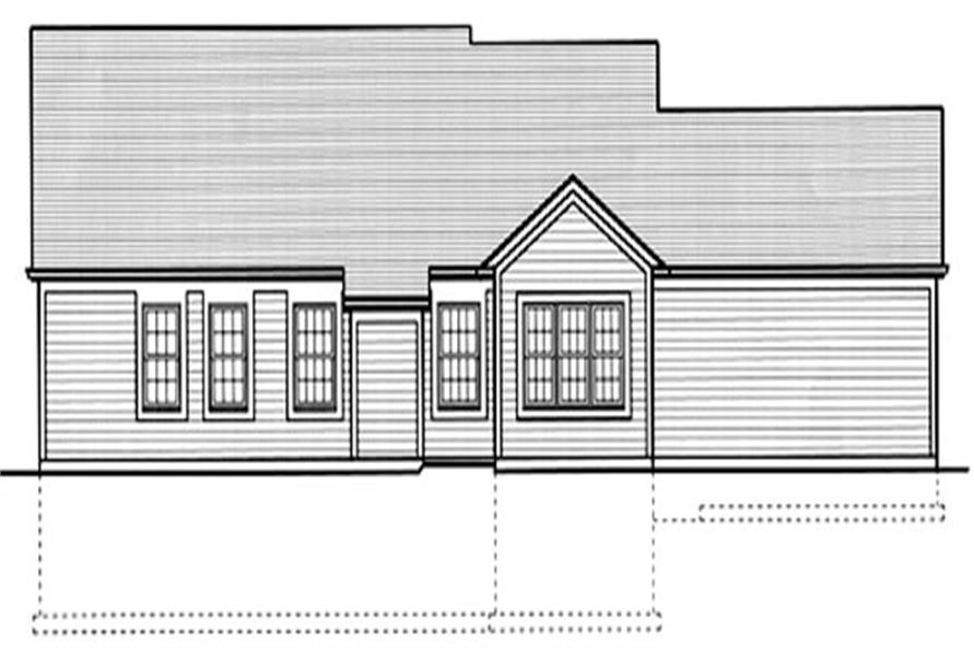 169-1014 house plan rear elevation