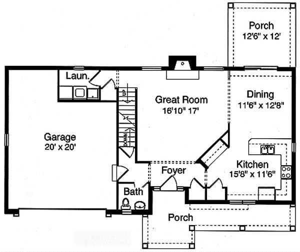 169-1015 house plan main floor