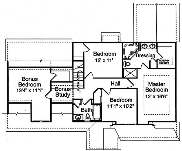 169-1015 house plan second floor