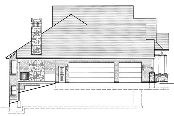 169-1016: Home Plan Left Elevation