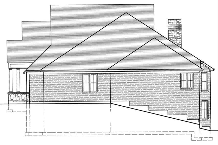 169-1016: Home Plan Right Elevation