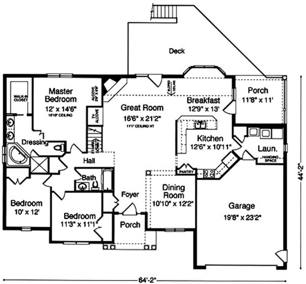 169-1017 house plan main level