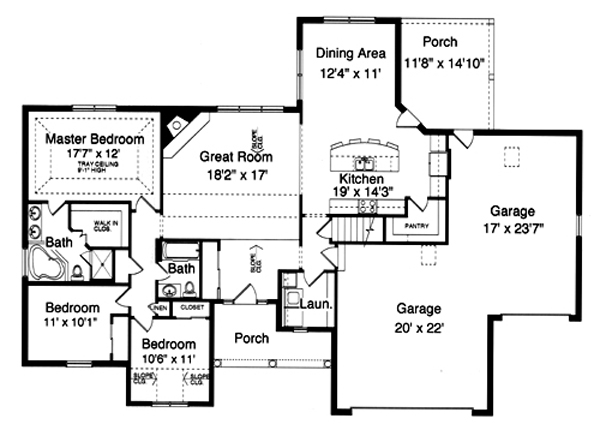 169-1019 house plan main level