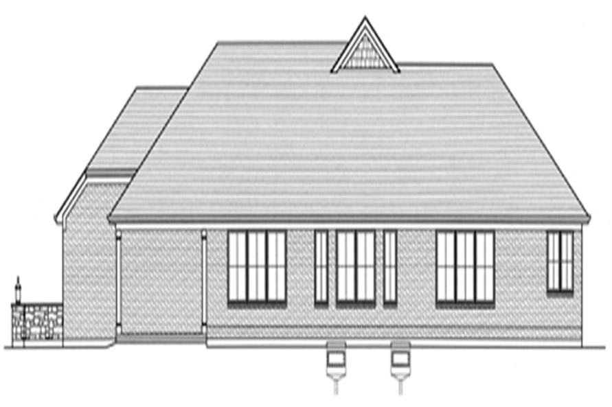 Home Plan Rear Elevation of this 3-Bedroom,2246 Sq Ft Plan -169-1022