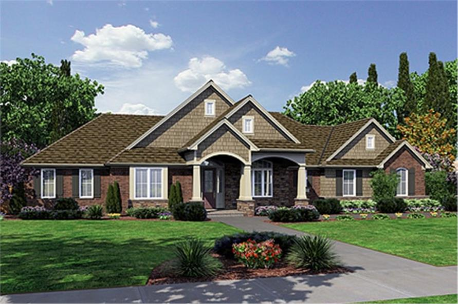 3-Bedroom, 2246 Sq Ft Ranch House Plan - 169-1022 - Front Exterior