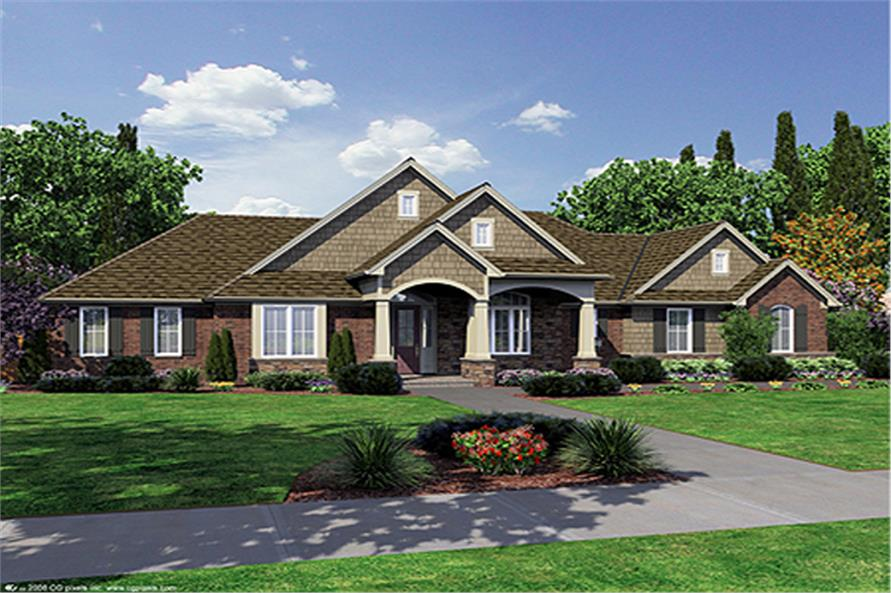 Craftsman,Ranch House Plans - Home Design Hunter'S Ridge