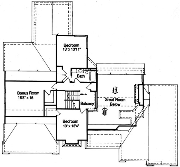 169-1023 house plan second floor