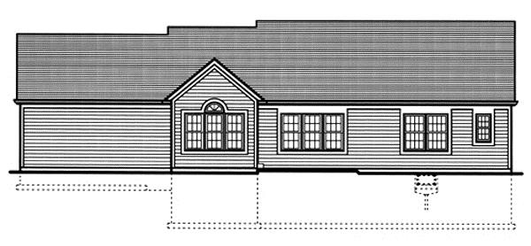 169-1024 house plan rear elevation
