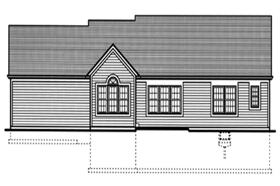 169-1024 house plan rear elevation