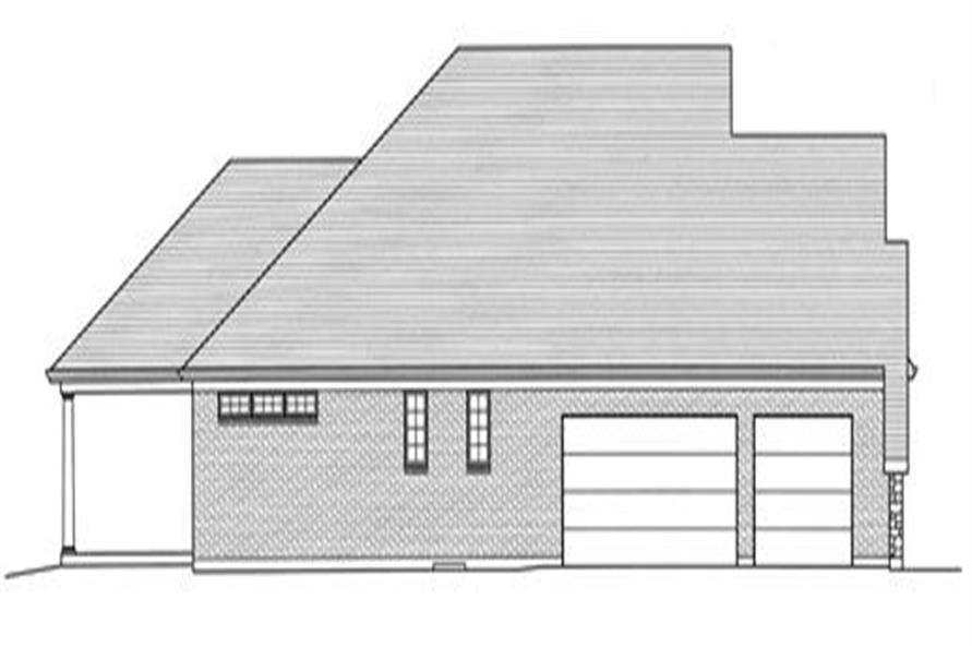 169-1026: Home Plan Left Elevation