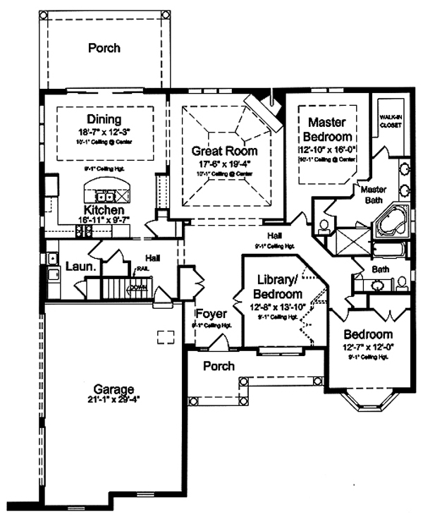 169-1026 house plan main level