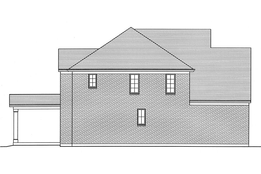 169-1029: Home Plan Left Elevation
