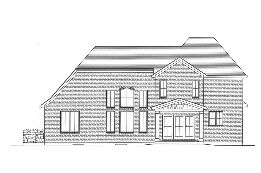 169-1029: Home Plan Rear Elevation