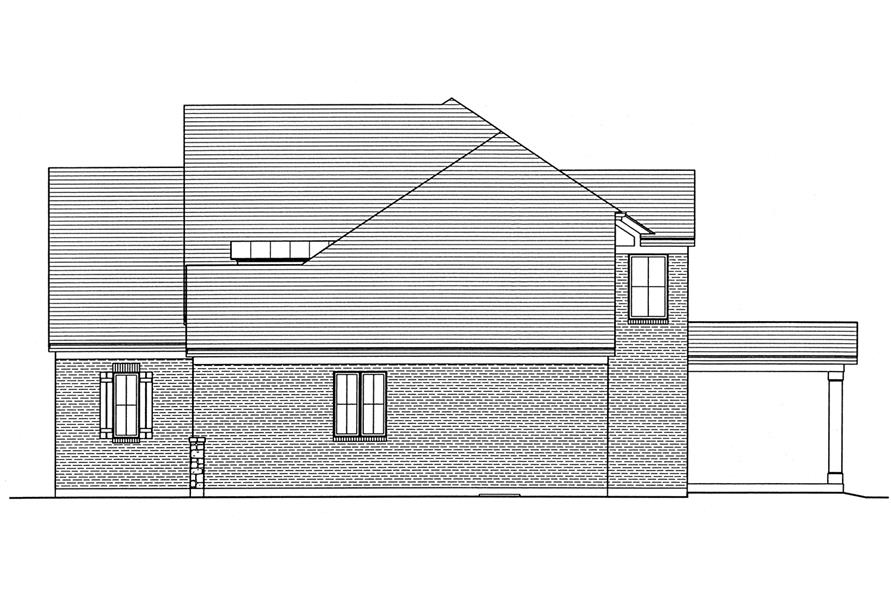 169-1029: Home Plan Right Elevation