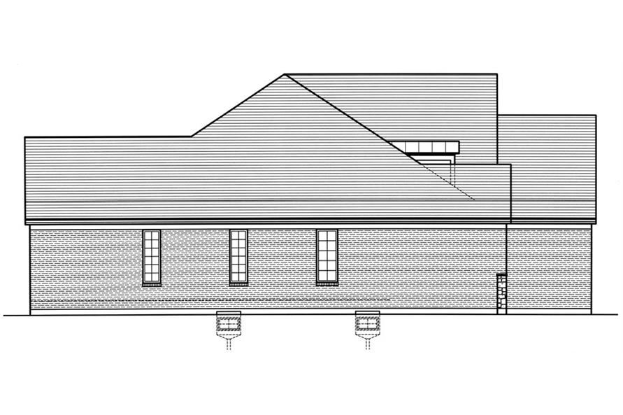 169-1031: Home Plan Left Elevation