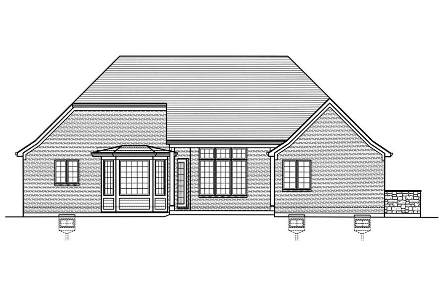 169-1031: Home Plan Rear Elevation