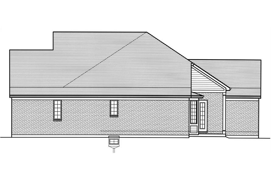 169-1031: Home Plan Right Elevation