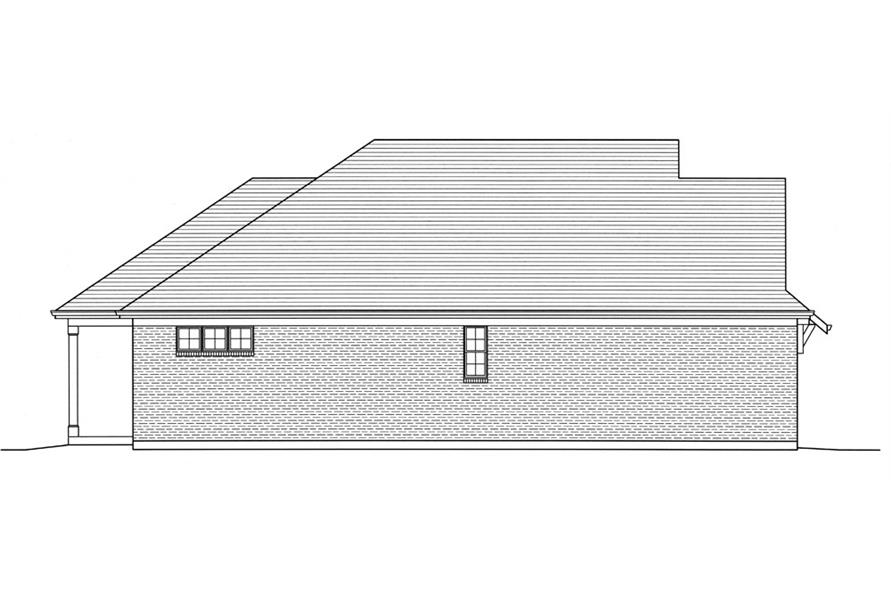 Home Plan Left Elevation of this 3-Bedroom,1741 Sq Ft Plan -169-1033