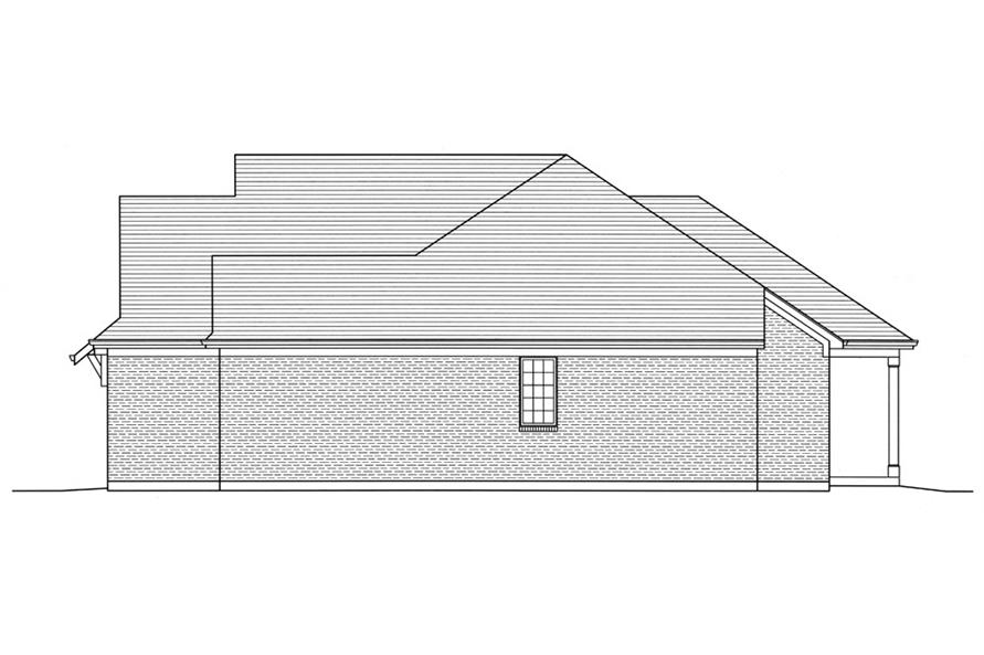 Home Plan Right Elevation of this 3-Bedroom,1741 Sq Ft Plan -169-1033