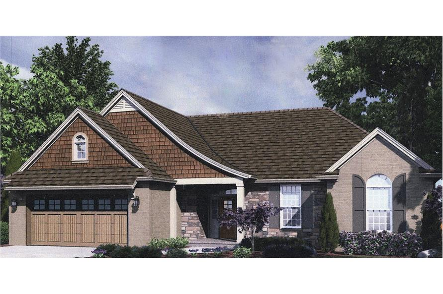 Home Plan Front Elevation of this 3-Bedroom,1741 Sq Ft Plan -169-1033